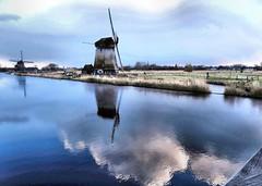 Molens Molenkade Alkmaar (Meino NL) Tags: winter holland mill netherlands moulin nederland alkmaar paysbas molen wieken noordholland vaart northholland zeswielen hoornsevaart oudorp molenkade oudorperpolder strijkmolen strijkmolenc