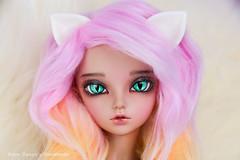 Cat ears for MSD - commission (AnnaZu) Tags: pink cat kitten pieces head handmade ears bjd etsy commission fairyland minifee rheia bjdprops vesnushka vesnushkahandmade
