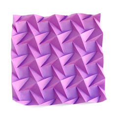 Squares-1-C #origami #tesssellation and #corrugation (_Ekaterina) Tags: paper origami violet tessellation paperfolding corrugation tant