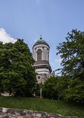 Esztergom (Delfinibi) Tags: blue green church hungary outdoor olympus crucifix ungarn templom esztergom magyarorszg bazilika olympusm1442mmf3556iir olympusepl5