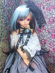 Blue flower (nanatsuhachi) Tags: doll bjd  resin juliet daydream daydreamer bluefairy holidaychoice blossombody  daydreamdoll daydreamjuliet