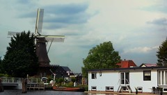 Windmill & Houseboat (Clare-White) Tags: blue sky windmill houseboat