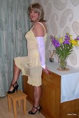 8 Girther (janegeetgirl2) Tags: stockings yellow contrast vintage tv high glamour opera bra crossdressing full tgirl gloves transvestite copper heels slip crossdresser ts nylon petticoat stilettos fully nylons garters fashioned seams
