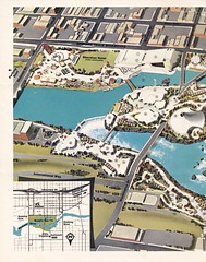 Official Site Map for Expo '74 - Spokane, Washington (The Cardboard America Archives) Tags: vintage 1974 washington spokane map worldsfair expo74