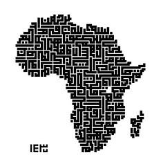 Holy Quran, 4:97 (Ahmadzeid) Tags: africa lake art island algeria god islam sudan egypt style geography calligraphy continent madagascar impression squared allah imitation quran kufi ahmadzeid africakufi