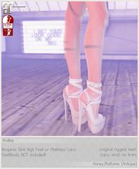 fri. - Honey.Platforms for Fifty Linden Friday! (Darling Monday) Tags: friday maitreya slink fiftylindenfriday
