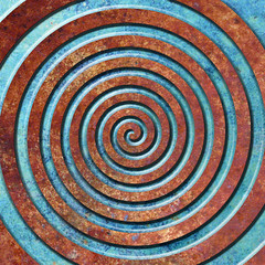 rust spiral (chrisinplymouth) Tags: spiral art artwork digitalart photoshop abstract pattern design cw69x rust whorl coil spirality image square geometric geometry cw69sym cw69spiral emd