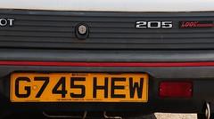 G745 HEW (2) (Nivek.Old.Gold) Tags: cambridge look 1989 peugeot 205 3door 1124cc timbrintoncars