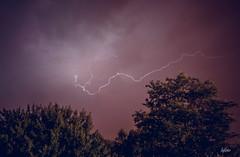 entre les arbres (lafargenicolas) Tags: travel light sky storm france nature night clouds landscape photo eau photographie pluie exposition beau orage longue foudre claire