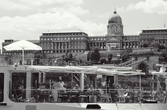 The river cafe, Budapest (Alexei L) Tags: hungary budapest river transport cafe chef budda castle royal palace danube europe capital city blackwhite black monochrome architecture