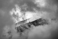 Into The Clouds (Daniele Pauletto) Tags: blackandwhite bw italy storm mountains nuvole loneliness albero montagna cluds solitario temporale sormano