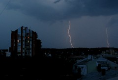 Lightnings Across the Sky (sandra.petrovi92) Tags: sky rain weather clouds outdoor strike lightning thunder