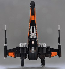 Poes T-70 X wing (5) (Inthert) Tags: black one star fighter ship force lego xwing wars poe resistance moc t70 awakens dameron bb8