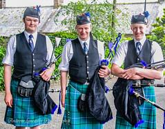 Bagpipe players at Durisdeer Scotland (Andrew Lancaster photography) Tags: music scotland bagpipes tartan durisdeer
