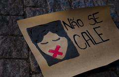 """ No se cale! "" (SamNeves1993) Tags: brazil woman art brasil avenida women arte mulher rape sp brazilian feminism mulheres cartaz manifesto paulista feminismo manifestao feminista temer patriarcado estupro"