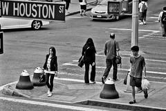NYC Soso Houston (City Clock Magazine) Tags: nyc newyorkcity people usa newyork walking trafficlight unitedstates manhattan soho northamerica crosswalk pedestriancrossing macdougalstreet northamerican whoustonstreet