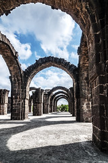 Ali Il Roza or the Barah Kaman at Bijapur, Karnataka (Anoop Negi) Tags: travel blue sky india history monument architecture clouds photography photo stones historical bara karnataka derelict anoop kaman asi negi runis bijapur ezee123