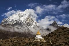 Mountain Stupas (Adept Photography) Tags: nepal stupa monastery nepalese yaks everest himalayas 2016 tengboche stupas