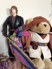 Revenge of the Stitch Part 1 (vampirefrannaz) Tags: starwars knitting jedi anakin wan skywalker kenobi obear