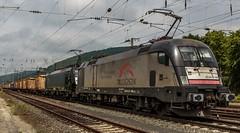 2195_2016_05_28_Gemnden_MRCE_dispolok_ES_64_U2_-_029_DISPO_6182_529_&_ES_64_F4_-_086_DISPO_6189_986_mit_Containerzug (ruhrpott.sprinter) Tags: railroad train germany logo bayern deutschland diesel outdoor frankfurt main natur eisenbahn rail zug db cargo nrw passenger re fret gelsenkirchen ruhrgebiet wrzburg freight locomotives fs 185 189 152 lokomotive 182 1440 sprinter ruhrpott gter 0426 2015 gemnden dispo sncb 7186 6182 6189 mrce reisezug dispolok txlogistik taoos es64u2 ellok es64f4 deutschungarischesfreundschaftsjahr