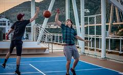 He blocks-Jlombard (joshualombard) Tags: sunset water basketball port croatia cruiseship hr dubrovnik oldcity dubrovakoneretvanskaupanija dubrovakoneretvanskaupanij
