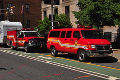 Flanders Fire and Rescue Brush 98 and Utility 98 (Triborough) Tags: nj newjersey essexcounty newark ffd ffr flandersfireandrescue firetruck fireengine utility utility98 dodge ram van