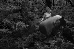 Breeze (evans.photo) Tags: trees woman woodland nude mono textile secluded