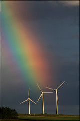At the end of the Rainbow (Mike Bolam) Tags: rainbow wind windturbine renewableenergy