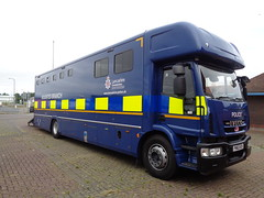 PN63RZH Lancashire Constabulary Mounted Branch in Blackpool (j.a.sanderson) Tags: pn63rzh lancashire constabulary mounted branch blackpool iveco horsebox police truck trucks