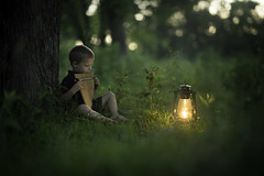 The Evening's Lullaby (Phillip Haumesser Photography) Tags: light boy music playing childhood night outside outdoors evening kid child sony 85mm missouri imagination lantern littleboy magical ozarks lullaby a7ii philliphaumesser