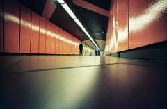 Underground tunnel, Siemensdamm (Kuusela photography) Tags: urban berlin 35mm underground lomo lomography fuji superia 35mmfilm 200 fujifilm analogue expired vignetting analoguephotography lcwide