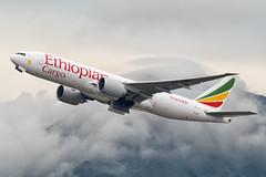 Ethiopian Cargo B777F ET-ARH-3050-Edit (CF Yuen) Tags: canon cargo boeing et 777 hkg freighter eth b777 ethiopianairlines vhhh 80d 777f b777f etarh 100400mmf4556lisiiusm 100400lii