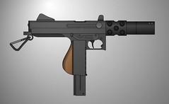 Thompson Machine Pistol Quickie (Kormet 66  Quicksilver Ind.) Tags: gun sub rifle machine 45 weapon pistol pimp smg 06 thompson fictional pmg acp quickie m1a1 pimpmygun