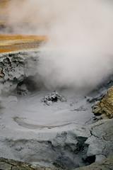 Hverarond sulphur bubbling mud (libscouse) Tags: iceland sulphur pool nature mud steam