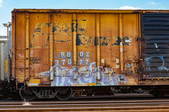 (o texano) Tags: bench graffiti texas houston trains meeka freights a2m benching adikts
