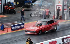 Nitro Capri (Fast an' Bulbous) Tags: race car drag strip track automobile vehicle outdoor fast speed power acceleration santa pod england nikon d7100 gimp dragster doorslammer motorsport worldcars
