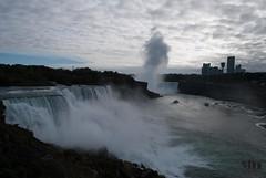 Niagara Falls (from USA side) (hexaphobic) Tags: usa mist canada water clouds niagarafalls nikon niagara falls steamer maidofthemist horseshoefalls americanfalls d60 nikond60 maidofthemistboat niagarareservationstatepark
