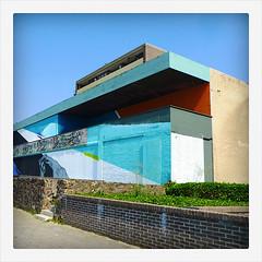 empty building (europics) Tags: architecture colorful vlissingen brutalism