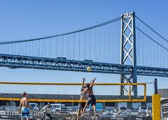 svp mens prelims under the bay bridge (pbo31) Tags: sanfrancisco california city bridge blue summer color beach sport june nikon baybridge embarcadero bayarea volleyball 80 southbeach avp 2016 boury pbo31 pier30 d810