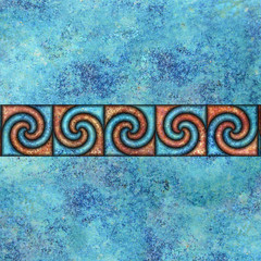 spiral border (chrisinplymouth) Tags: abstract art square spiral design artwork pattern image border digitalart band symmetry curl coil whorl continuous repeatingpattern spirality cw69x cw69sym