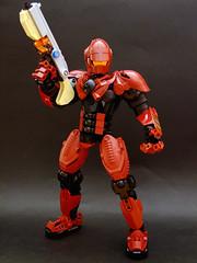 Trooper Carnifex (Djokson) Tags: red black soldier robot marine gun lego space halo armor weapon doom warrior mecha generic moc djokson
