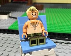 It's not the heat... it's the humidity. (woodrowvillage) Tags: shirtless sun naked toy lego bricks mini burn topless figure blocks build minifigure