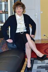 Birgit022388 (Birgit Bach) Tags: rock skirt blouse button satin cardigan bluse strickjacke knpfe