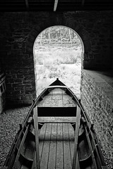 Looking for a long gone lake (zapperthesnapper) Tags: lake vintage mono boat sony blackburn boathouse nationaltrust rowingboat cragside northumbeland sonyimages sonyrx100 blackburnboathouse