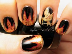 Hunger Games (Noel Photography.<3) Tags: fire naildesign hungergames