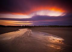 Shimmering Sands (-Rodbod-) Tags: longexposure sunset beach night landscape coast nikon cloudy northumberland coastline seahouses cokin d7100 nikon1024 nikond7100 haida10stopnd