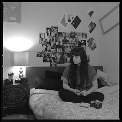 Katie (Molly Castle) Tags: film silver print bedroom interior young indoor personality teenager environment enviroment