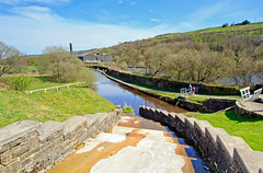 Spillway (Saturated Imagery) Tags: canal yorkshire reservoir dslr huddersfield marsden spillway colnevalley huddersfieldnarrowcanal sigma1020mmf35 canoneos60d photoshopelements9