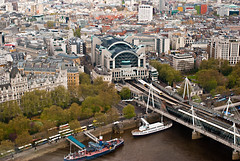 Charing Cross Station (John Fenner) Tags: london view londoneye trains charingcrossstation nikond80 nikon35mmf20