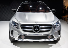 Mercedes-Benz GLA Concept (feradz) Tags: barcelona new car modern speed silver design spain contemporary autoshow catalonia exhibition transportation mercedesbenz editorial concept suv powerful luxury supercar carshow amg wealth frontview elegance aclass upperclass cardesigner